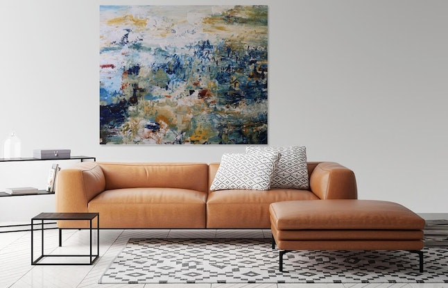 """(CreativeWork) Modern Abstract """"I Love A  Sunburnt Country"""" ( Australia) by Maria Cross. Mixed Media. Shop online at Bluethumb."""