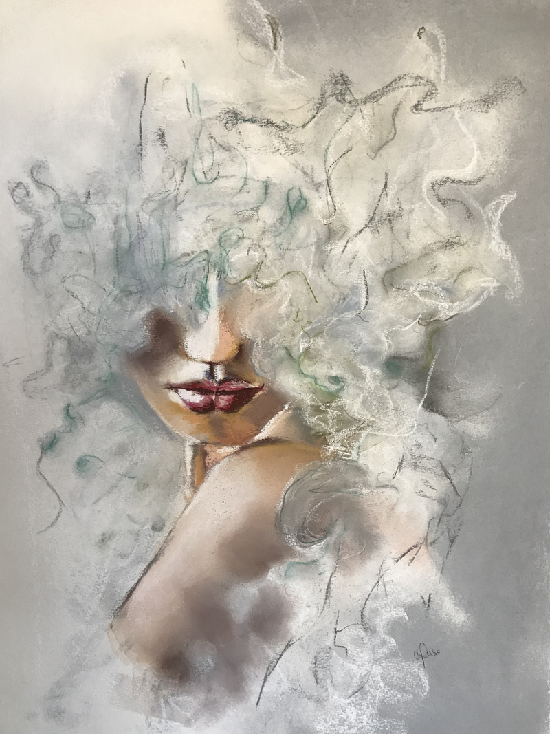 (CreativeWork) Face it, it's foggy.   by Cathy Raso. Drawings. Shop online at Bluethumb.