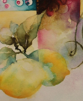 (CreativeWork) My Favourite Things IV by Jude Scott. Watercolour Paint. Shop online at Bluethumb.