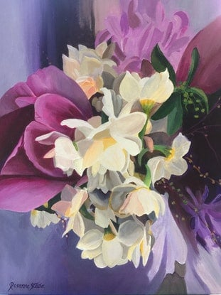 (CreativeWork) Spring Bouquet by Rosanne Steele. Acrylic Paint. Shop online at Bluethumb.