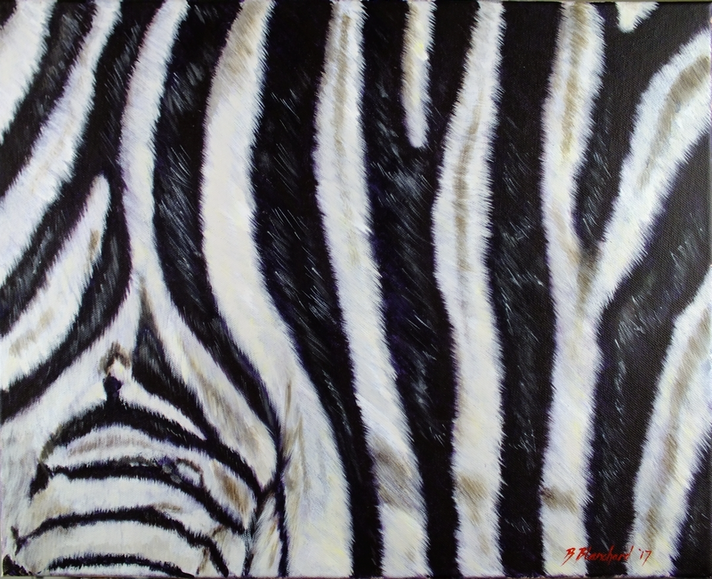 (CreativeWork) Zebra Crossing by Brendan Blanchard. Acrylic Paint. Shop online at Bluethumb.