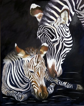 (CreativeWork) Welcome to the World by Carol Stewart. Oil Paint. Shop online at Bluethumb.
