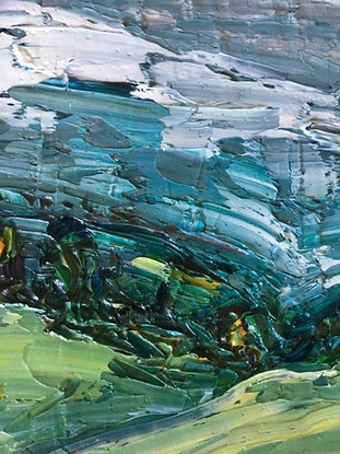(CreativeWork) After the Storm- Byron Bay Hinterland  by Michelle Keighley. Oil Paint. Shop online at Bluethumb.