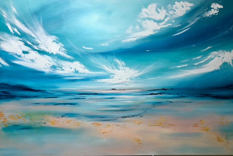 (CreativeWork) Return to Eden (large scale 153x102cm) - reserved by Kat Las. arcylic-painting. Shop online at Bluethumb.