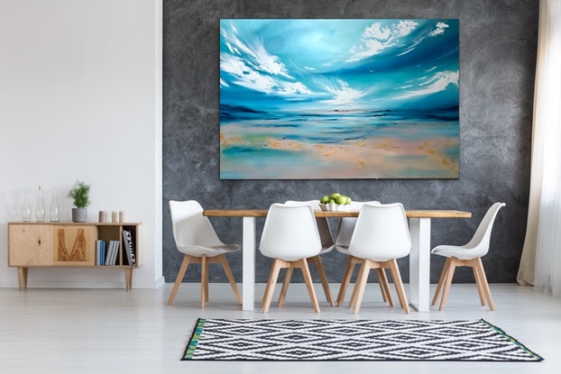 (CreativeWork) Return to Eden (large scale 153x102cm) - reserved by Kat Las. Acrylic Paint. Shop online at Bluethumb.