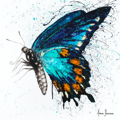 (CreativeWork) Butterfly Bliss by Ashvin Harrison. Acrylic Paint. Shop online at Bluethumb.