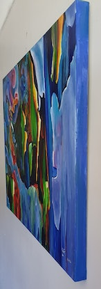 (CreativeWork) A glimpse of a rainbow gum. by Keir Jamieson. Acrylic Paint. Shop online at Bluethumb.