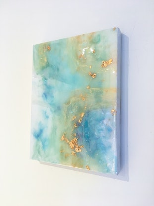 (CreativeWork) Ocean Mist by Stephanie Lisa. Resin. Shop online at Bluethumb.