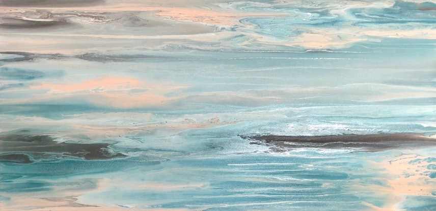 (CreativeWork) Calm too - contemporary original painting on canvas by Debra Ryan. Mixed Media. Shop online at Bluethumb.