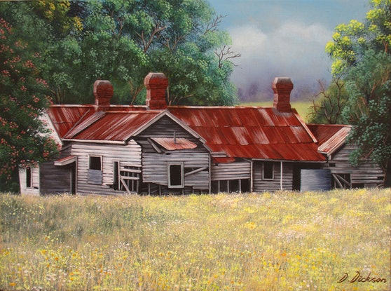 (CreativeWork) Abandoned old farm house 2 Limited edition giclee print Ed. 1 of 100 by Debra Dickson. Print. Shop online at Bluethumb.