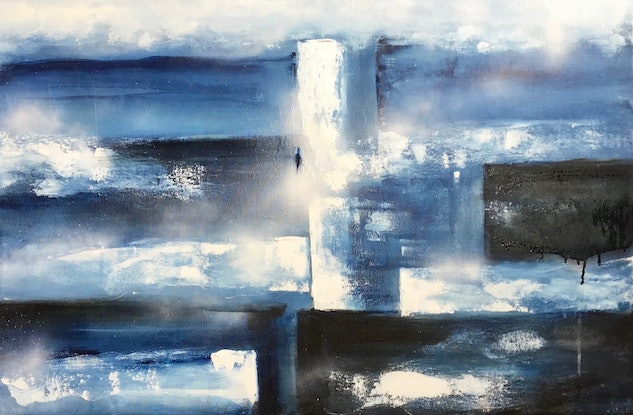 (CreativeWork) High Tide by Louise Croese. Acrylic Paint. Shop online at Bluethumb.
