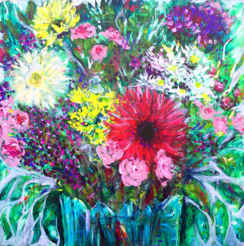 (CreativeWork) 'Love's Gift' Original Painting     by Tanya Cole. Acrylic Paint. Shop online at Bluethumb.