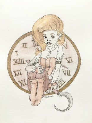 (CreativeWork) Time by Shelby Ward. Drawings. Shop online at Bluethumb.