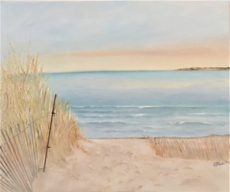 (CreativeWork) Fire Island by Marlene Willson. Oil Paint. Shop online at Bluethumb.