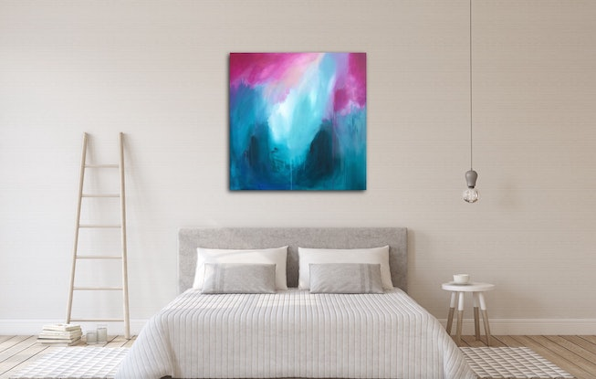 (CreativeWork) The Wonder of Blue ( Big Art) by Emma Wreyford. Acrylic Paint. Shop online at Bluethumb.