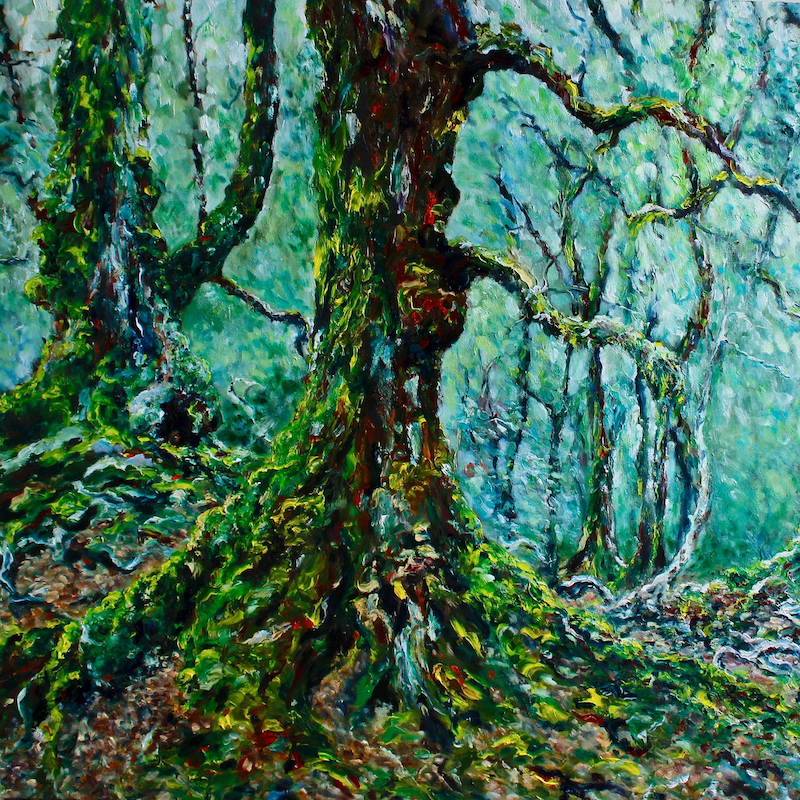 (CreativeWork) Forest Giant by Georgina Richmond. Oil Paint. Shop online at Bluethumb.
