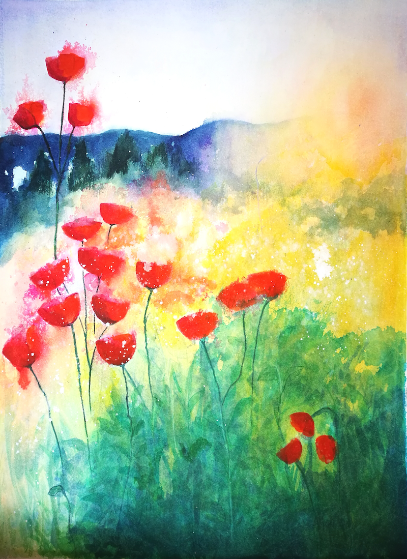 (CreativeWork) Tuscan Dawning by Lucinda Leveille. Watercolour Paint. Shop online at Bluethumb.