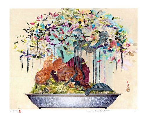 (CreativeWork) Moreton Bay Fig Bonsai LIMITED EDITION PRINT  Ed. 12 of 40 by Amanda Krantz. Print. Shop online at Bluethumb.