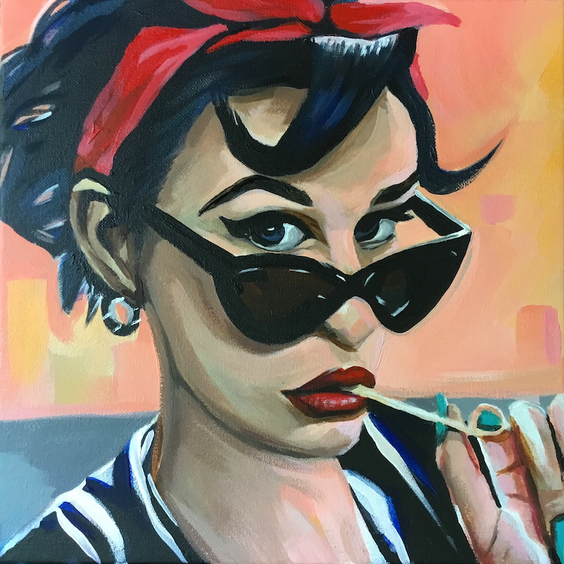 (CreativeWork) Maria by Craig Brown. Acrylic Paint. Shop online at Bluethumb.
