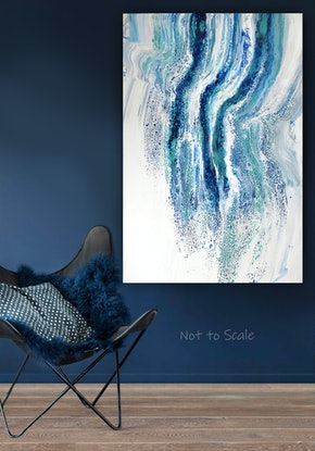 (CreativeWork) Ocean's Veil by Brigitte Ackland. Acrylic Paint. Shop online at Bluethumb.