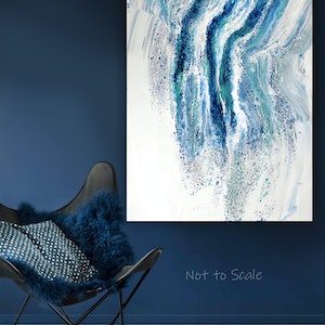 (CreativeWork) Ocean's Veil by Brigitte Ackland. acrylic-painting. Shop online at Bluethumb.
