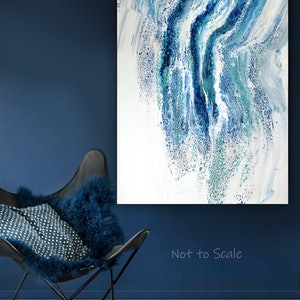 (CreativeWork) Ocean's Veil by Brigitte Ackland. arcylic-painting. Shop online at Bluethumb.