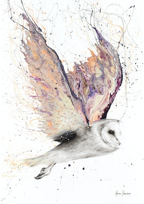 (CreativeWork) Heart Winged Owl - Limited Edition Print - Ed. 8 of 100 by Ashvin Harrison. Print. Shop online at Bluethumb.