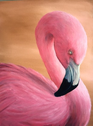 (CreativeWork) Rosie by Janet Claydon. Oil Paint. Shop online at Bluethumb.