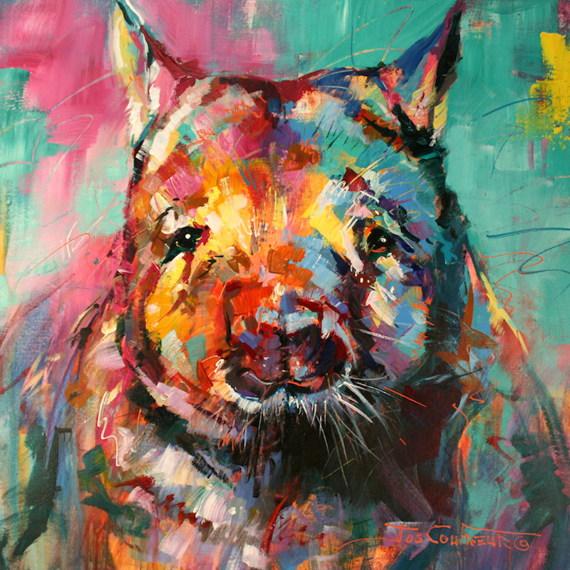 (CreativeWork) Wombat by Jos Coufreur. Acrylic Paint. Shop online at Bluethumb.