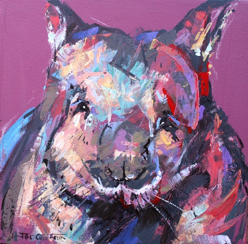 (CreativeWork) Wombat II by Jos Coufreur. Acrylic Paint. Shop online at Bluethumb.