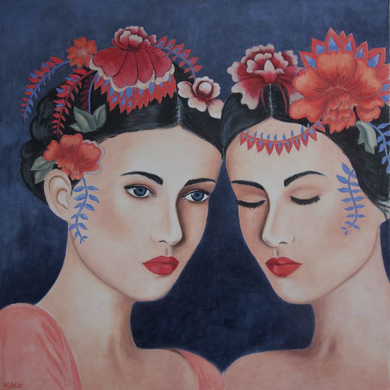 (CreativeWork) Contemplation  by Annabelle Gfeller. Acrylic Paint. Shop online at Bluethumb.