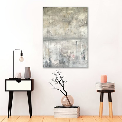 (CreativeWork) Gaps In Conversation by Melanie Crawford. Acrylic Paint. Shop online at Bluethumb.