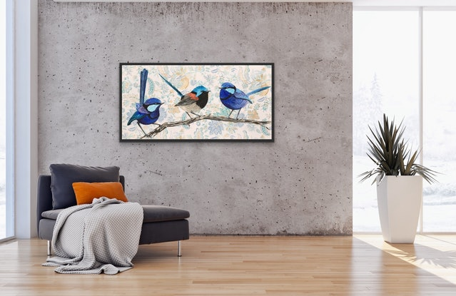 (CreativeWork) Stand out from the Crowd  by REK .. Acrylic Paint. Shop online at Bluethumb.
