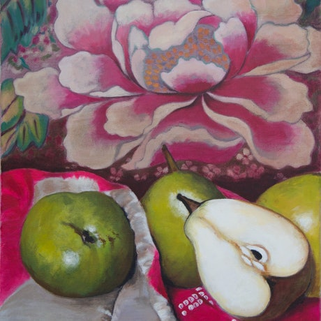 (CreativeWork) Pears and Peonie  Ed. 1 of 50 by Annabelle Gfeller. Print. Shop online at Bluethumb.
