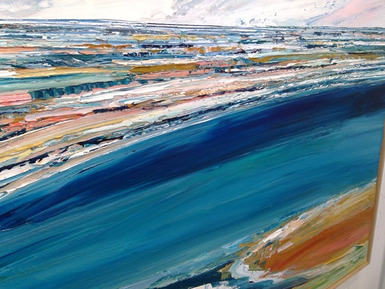 (CreativeWork) Shoreline - commission by Katie Wyatt. Acrylic Paint. Shop online at Bluethumb.