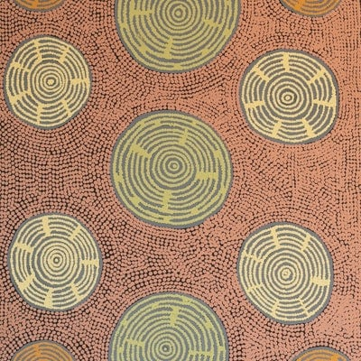 (CreativeWork) Nyumannu 571-18 by Pam Brown. acrylic-painting. Shop online at Bluethumb.