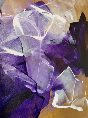 (CreativeWork) Violet Haze by Rebecca Warr. Acrylic Paint. Shop online at Bluethumb.