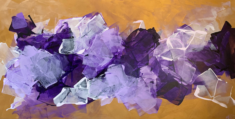 (CreativeWork) Violet Haze by Rebecca Warr. acrylic-painting. Shop online at Bluethumb.