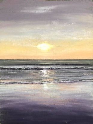 (CreativeWork) Sunset study  by Ann Steer. Drawings. Shop online at Bluethumb.