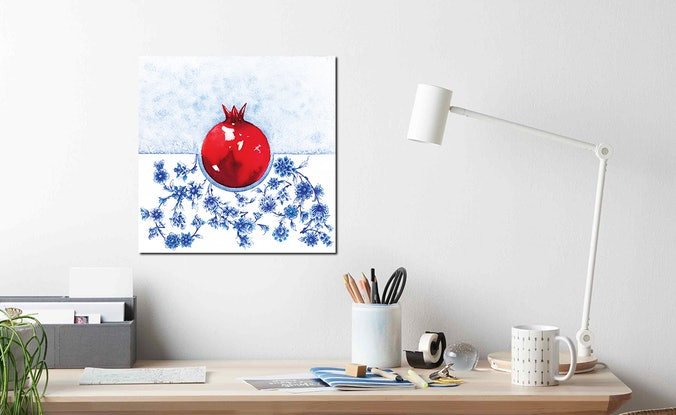 (CreativeWork) Always in my heart by Sahar Kashef. Watercolour Paint. Shop online at Bluethumb.