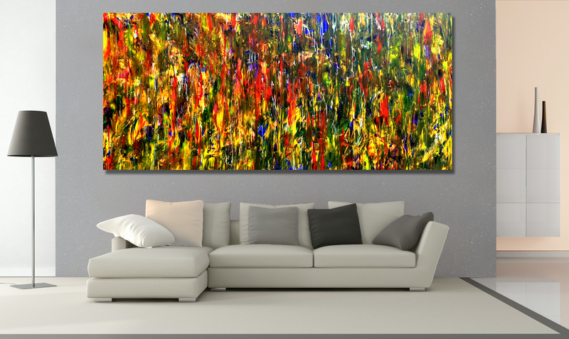 (CreativeWork) My Yellow Place by Estelle Asmodelle. Acrylic Paint. Shop online at Bluethumb.