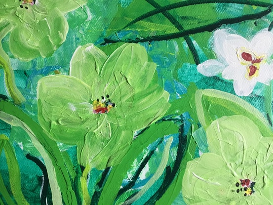 (CreativeWork) Untouched by Myra Carter. Acrylic Paint. Shop online at Bluethumb.