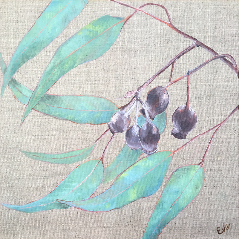 (CreativeWork) Gumnuts by Eve Sellars. Acrylic Paint. Shop online at Bluethumb.