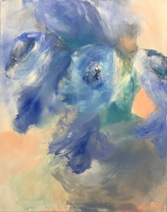 (CreativeWork) Blue Rhapsody  by Tina Barr. Acrylic Paint. Shop online at Bluethumb.