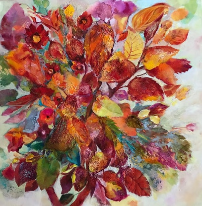 (CreativeWork) TASTE OF AUTUMN No5 by Gosia Orzechowska. Acrylic Paint. Shop online at Bluethumb.