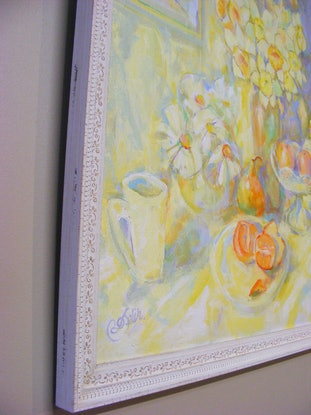 """(CreativeWork) """"TEA FOR TWO"""" by Daniela Selir. Acrylic Paint. Shop online at Bluethumb."""