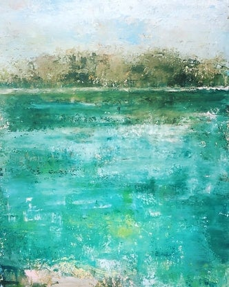 (CreativeWork) Oasis by Linda Gleeson. Acrylic Paint. Shop online at Bluethumb.