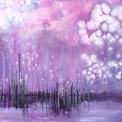 (CreativeWork) Launch by helene hardy. Acrylic Paint. Shop online at Bluethumb.