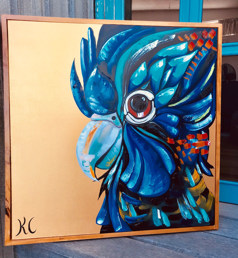 (CreativeWork) cockatoo  by Kylie Cuthbertson. Oil Paint. Shop online at Bluethumb.