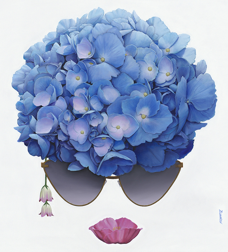 (CreativeWork) Hydrangeaface Ed. 15 of 50 by Zelman Lew. Print. Shop online at Bluethumb.